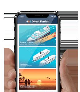 La aplicaciòn Direct Ferries