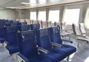 nankai_ferry_tsurugi_blue_recliner